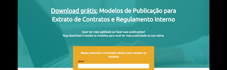 Modelo de Publicação para Extrato de Contrato e Regulamento Interno